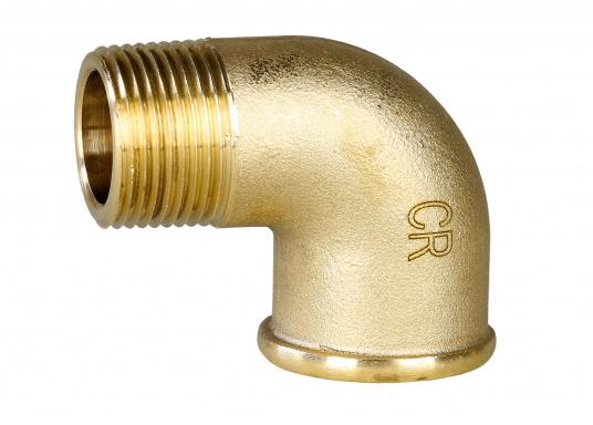 Originaler BAVARIA-Rohrbogen 90° aus Messing CR. Erhältlich in unterschiedlichen Größen.