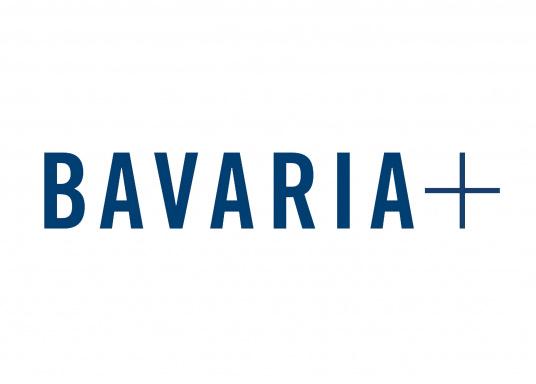 Das Edelstahlsteuerrad ist mit Leder ummantelt und sorgt so für einen besseren Halt beim Steuern Ihrer Yacht von BAVARIA. Durchmesser: 900 mm.