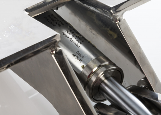 Originales Scharnier für die Badeplattform auf Ihrer BAVARIA Cruiser 46. Das Scharnier hat eine integrierte Gasdruckfeder mit einer Kraft von 2500 N. (Bild 5 von 5)