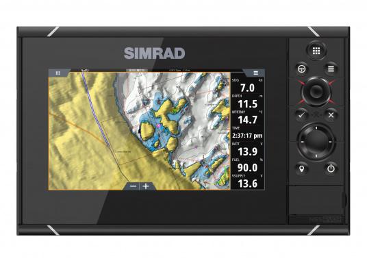 Navigieren, Kontrolle übernehmen und die enorme Funktionsvielfalt optimal ausnutzen – mit NSS evo3. Die SolarMAX™ HD-Anzeigetechnologie bietet ein außergewöhnlich klares Bild und extrem weite Sichtwinkel. Dank allwettertauglichem Touchscreen und erweitertem Tastenfeld behalten Sie unter allen Bedingungen die volle Kontrolle. Lieferung inklusive 4G Breitband Radar. (Bild 11 von 17)