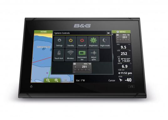 Das B&G VULCAN 9FS Kartenplotter-Navigationsdisplay eignet sich optimal zur Funktionserweiterung auf Sportbooten, Kreuzfahrtschiffen und in kleineren Mittelkonsolen mit Plug-and-Play-Unterstützung für B&G Broadband Radar™ und Halo™ Pulskompressions-Radarsystemen. Lieferung inklusive 3G Breitband Radar. (Bild 6 von 7)