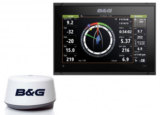Das B&G VULCAN 9FS Kartenplotter-Navigationsdisplay eignet sich optimal zur Funktionserweiterung auf Sportbooten, Kreuzfahrtschiffen und in kleineren Mittelkonsolen mit Plug-and-Play-Unterstützung für B&G Broadband Radar™ und Halo™ Pulskompressions-Radarsystemen. Lieferung inklusive 3G Breitband Radar.