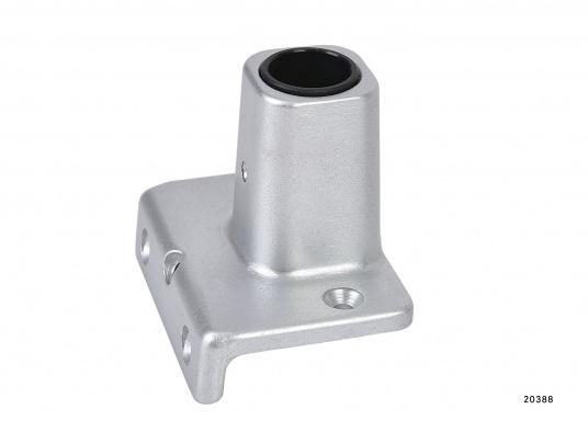 Original BAVARIA Aluminium Relingfüße für das Schanzkleid. Für Rohre mit einem Durchmesser von 25 mm.