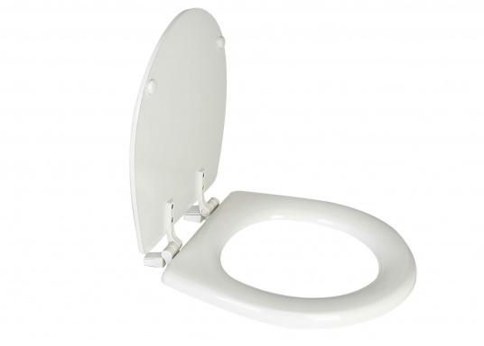 Original Jabsco Ersatzdeckel undSitz für das Bord-WC NEW STYLEKompakt. Des weiteren passt der Ersatzdeckel auf Toiletten mit einem Lochabstand von 14,5 cm.