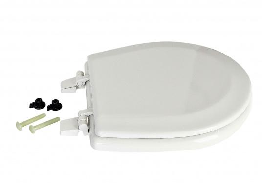 Original Jabsco Ersatzdeckel undSitz für das Bord-WC NEW STYLEKompakt. Des weiteren passt der Ersatzdeckel auf Toiletten mit einem Lochabstand von 14,5 cm.  (Bild 2 von 4)