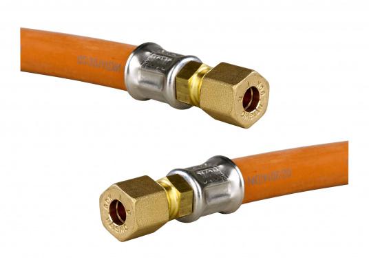 Tuyaux de gaz agréés avec embouts en bronze pour usage marine. Plusieurs modèles disponibles.  (Image 2 de 2)