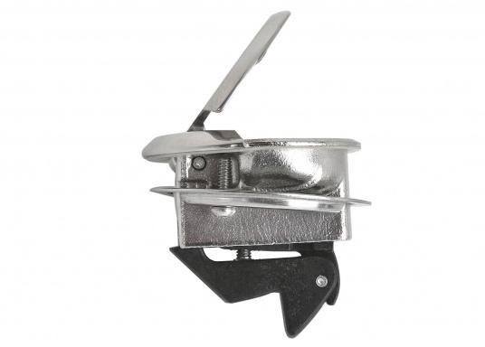 Runder Bodenheber gefertigt aus rostfreiem Edelstahl. Durchmesser 57 mm. Materialstärke: 19 - 25 mm.  (Bild 2 von 4)