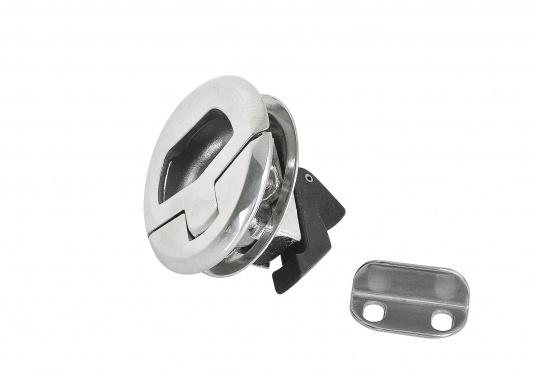 Runder Bodenheber gefertigt aus rostfreiem Edelstahl. Durchmesser 57 mm. Materialstärke: 19 - 25 mm.  (Bild 4 von 4)