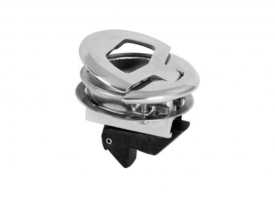 Runder Bodenheber gefertigt aus rostfreiem Edelstahl. Durchmesser 57 mm. Materialstärke: 19 - 25 mm.