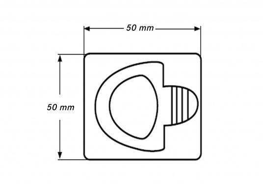 Eckiger, robuster Bodenheber mit Einlassgriff und Rückholfeder aus Edelstahl.  (Bild 4 von 4)