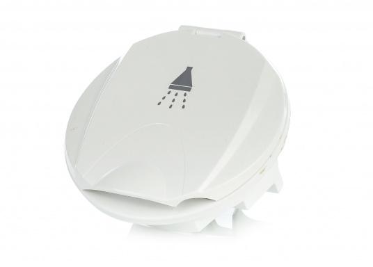 Passende Ersatz-Einbaubox für das Duschset. Hergestellt aus Kunststoff. Gehäusefarbe: weiß.