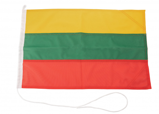 Robuste Nylon-Flaggen mit offiziellem Landesflaggen-Druck: Litauen. Hochwertige Verarbeitung mit 100%-Durchdruck, schnelle und einfache Befestigung.Ideal für die Verwendung als Länder- und Gastlandflagge.