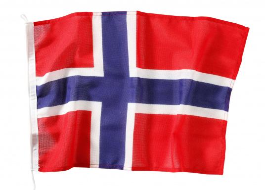Robuste Nylon-Flaggen mit offiziellem Landesflaggen-Druck: Norwegen. Hochwertige Verarbeitung mit 100%-Durchdruck, schnelle und einfache Befestigung. Ideal für die Verwendung als Länder- und Gastlandflagge.