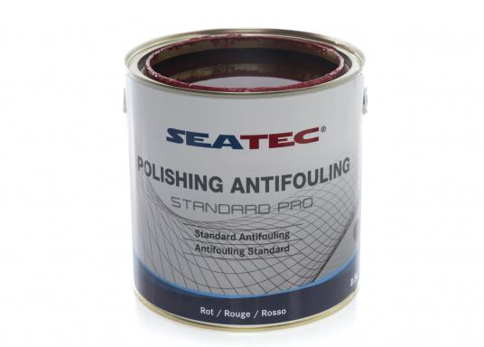 A further development of STANDARD, the proven SEATEC Antifouling. STANDARD PRO is a universal, self-polishing antifouling for sailing yachts, dinghies and motor yachts, based on bioactive, organic and copper compounds. (Afbeelding 2 of 5)