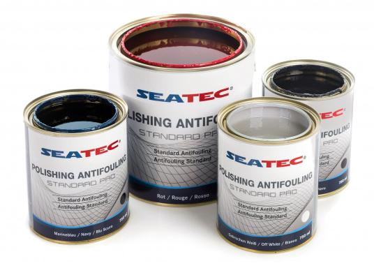 A further development of STANDARD, the proven SEATEC Antifouling. STANDARD PRO is a universal, self-polishing antifouling for sailing yachts, dinghies and motor yachts, based on bioactive, organic and copper compounds. (Afbeelding 1 of 5)