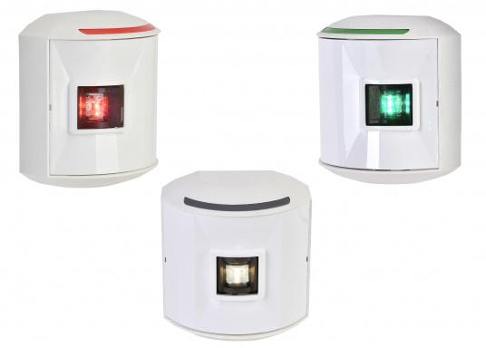 Die hochqualitativen und modernen LED-Positionsleuchten der Serie 44 überzeugen mit edlem Design und ultra heller Power LED. Set besteht aus je einer Steuerbord-, Backbord- sowie Hecklaterne.