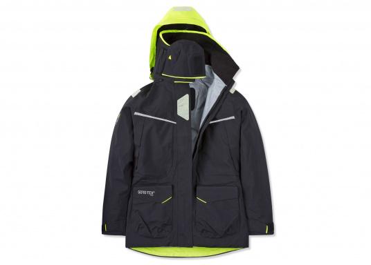 Die Jacke, die dem Offshore-Segler wirklich entspricht. Mit hochstellbarem Kragen und völlig verschließbarer Kapuze. MPX GORE-TEX®Pro steht für das beste Material für anspruchsvolle Segler. (Bild 11 von 15)