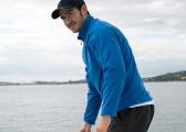 Pullover homme, polaire GRID / bleu
