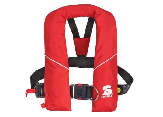Robuste Rettungsweste, ideal als Einsteigermodel für dieBereiche Yacht- und Fahrtensegeln, Hochseesegeln (Blauwasser) und Motorschiff (Blauwasser) geeignet. Mit einem Auftrieb von 220 N, geeignet für ein Körpergewicht ab 50 kg.