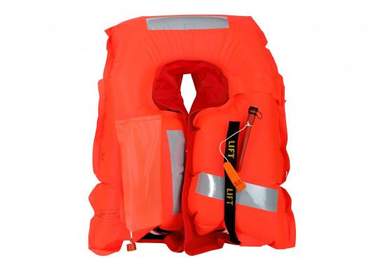 Robuste Rettungsweste, ideal als Einsteigermodel für dieBereiche Yacht- und Fahrtensegeln, Hochseesegeln (Blauwasser) und Motorschiff (Blauwasser) geeignet. Mit einem Auftrieb von 220 N, geeignet für ein Körpergewicht ab 50 kg.  (Bild 5 von 5)