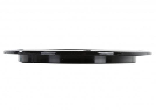 Runder Inspektionsdeckel mit 4-fach Bajonettverschluss und einer im Einbaurahmen eingelegten Deckeldichtung. Farbe: schwarz.  (Bild 4 von 4)