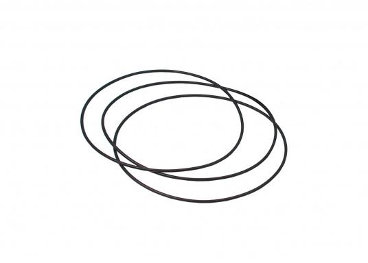Originale Gummidichtung für die Inspektionsdeckel mit einem Inndendurchmemsser von 127 mm. Die O-Ring-Dichtung wirdzwischen Einbaurahmen und Montagefläche positioniert.
