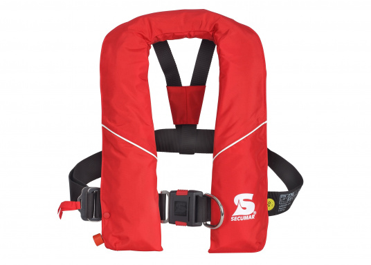 Robust life jacket, ideal as a starter model foryacht and cruise sailing, deep sea sailing (blue water) and on motor ships (blue water). With a buoyancy of 280 N, suitable for a body weight of50 kg and up.