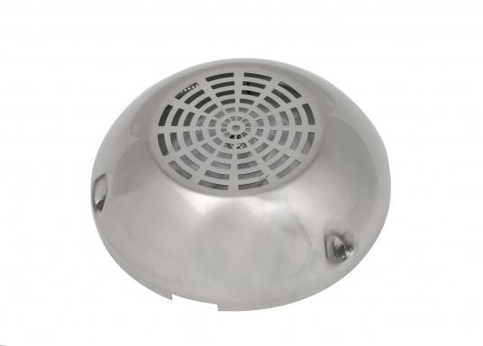 Deckslüfter zur stetigen, zugfreien Be- und Entlüftung. Wasserdicht und komplett wartungsfrei. Der Lüfter wird mit Edelstahlkappe geliefert.  (Bild 2 von 6)