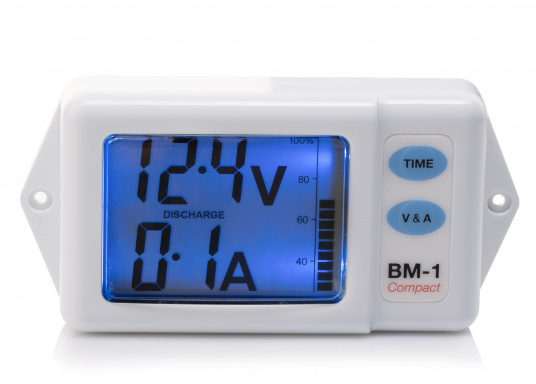 Nasa Compact Battery Monitor White