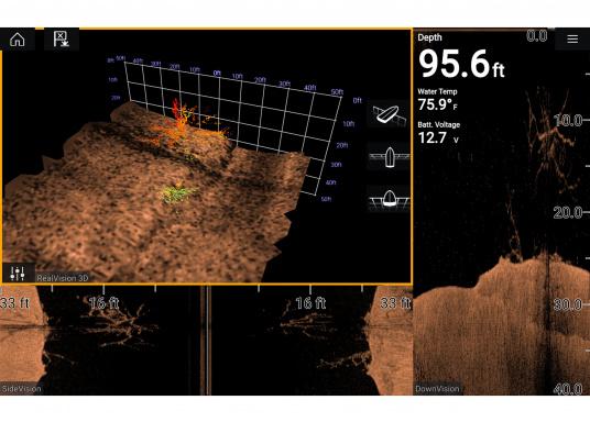 Spezial für Skipper entwickelt, die alles in einem Display haben wollen. Ausgestattet mit einem ultra-schnellen Quad-Core-Prozessor, einem superhellen IPS-Display und der intelligenten LightHouse Bedienoberfläche - für ein reibungsloses und intuitives Navigationserlebnis. Der AXIOM PRO-S Display ist ausgestattet mit demReal Vision™ 3D-Sonar und 1kW CHIRP-Sonar. (Bild 9 von 11)