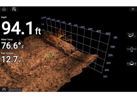 Spezial für Skipper entwickelt, die alles in einem Display haben wollen. Ausgestattet mit einem ultra-schnellen Quad-Core-Prozessor, einem superhellen IPS-Display und der intelligenten LightHouse Bedienoberfläche - für ein reibungsloses und intuitives Navigationserlebnis. Der AXIOM PRO-S Display ist ausgestattet mit dem Real Vision™ 3D-Sonar und 1 kW CHIRP-Sonar.Der AXIOM PRO-S Display ist ausgestattet mit dem Real Vision™ 3D-Sonar und 1 kW CHIRP-Sonar sowie einer Navionics+ SmallKarte. (Bild 10 von 11)