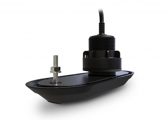 Plastic thru-hull transducer RV-300 for direct connection to your Raymarine AXIOM multifunction display. Lifelike clarity and optimally recognizable structures with RealVision 3D Sonar.