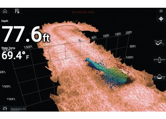 Plastic thru-hull transducer RV-300 for direct connection to your Raymarine AXIOM multifunction display. Lifelike clarity and optimally recognizable structures with RealVision 3D Sonar. (Image 6 of 7)