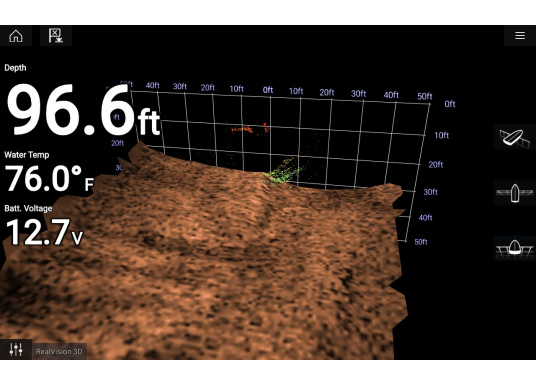 Durchbruchgeber Set RV-312 für den direkten Anschluss an ihr AXIOM Multifunktionsdisplay von Raymarine. Lebensnahe Klarheit und optimal erkennbare Strukturen mit RealVision 3D Sonar. (Bild 4 von 4)