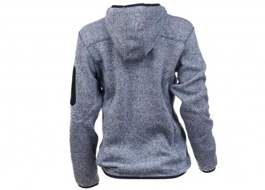 Tolle Fleecejacke für Damen mit kuschelweicher Innenseite. Der Fleece hat elastische Bündchen am Saum, zwei Seitentaschen mit Reißverschluss und eine weitere Reißverschlusstasche am Oberarm. (Bild 2 von 14)