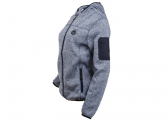 Ladies fleece jacket HOODILE / blue