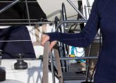 Ladies Shirt MERINO / navy blue