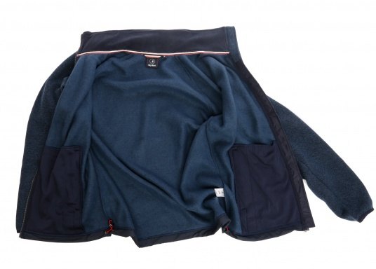 Comfortable fleece jacket for men. The fleece has a full-length zipper and two side pockets, which also have zippers.  (Image 8 of 12)