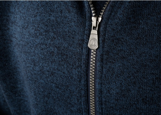 Comfortable fleece jacket for men. The fleece has a full-length zipper and two side pockets, which also have zippers.  (Image 9 of 12)