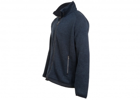 Comfortable fleece jacket for men. The fleece has a full-length zipper and two side pockets, which also have zippers.  (Image 3 of 12)