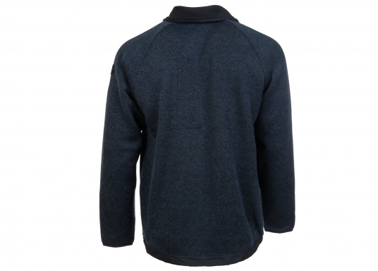 Comfortable fleece jacket for men. The fleece has a full-length zipper and two side pockets, which also have zippers.  (Image 4 of 12)