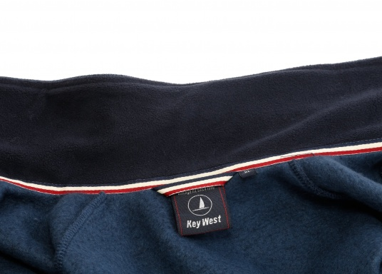 Comfortable fleece jacket for men. The fleece has a full-length zipper and two side pockets, which also have zippers.  (Image 11 of 12)