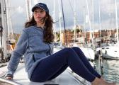 MERINO Ladies Trousers / navy blue