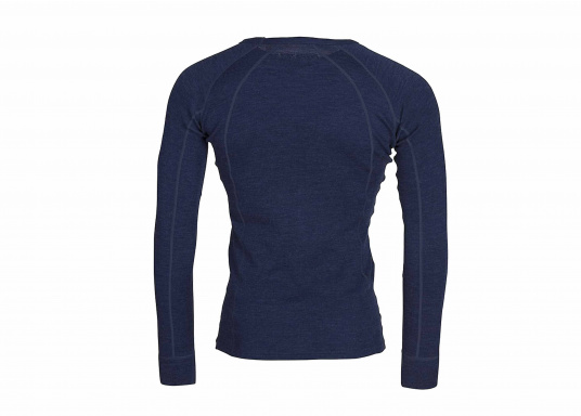 Functional shirt made of 100% wool (Merino wool) with flat seams. For comfort, the shirt has a raglan sleeve. The merino wool does not scratch and the clothing is odor resistant.  (Image 2 of 5)