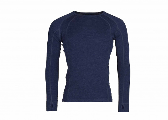 Functional shirt made of 100% wool (Merino wool) with flat seams. For comfort, the shirt has a raglan sleeve. The merino wool does not scratch and the clothing is odor resistant.