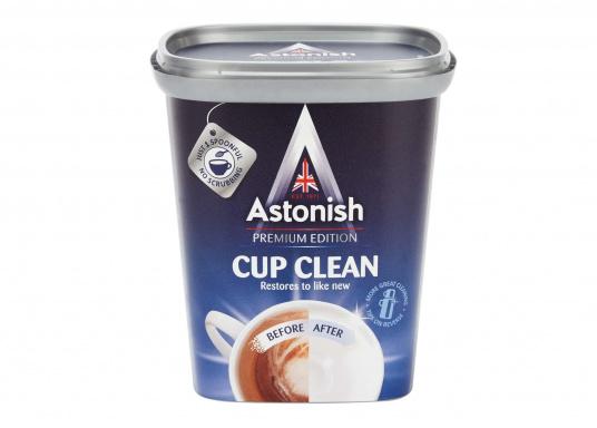 Ideal für Melamingeschirr!Entfernt Tee- und Kaffeeflecken von Tassen, Untertassen und anderen Geschirrteilen. Inhalt: 350 g.
