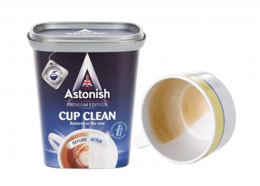 Ideal für Melamingeschirr!Entfernt Tee- und Kaffeeflecken von Tassen, Untertassen und anderen Geschirrteilen. Inhalt: 350 g.  (Bild 2 von 2)