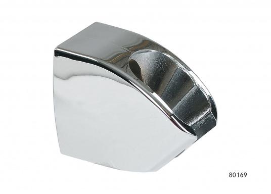 PassendeWandhalterung für den Einhebelmischer mitHandbrauseund die Handbrause JULIA.Die Wandhalterung in Form eines Konusbestichtdurch ihrstylishes Design. Material: chrom.