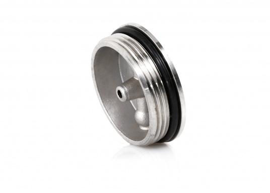 Originale Ersatzdeckel aus Edelstahl für die Tankeinfüllstutzen mit einem 38oder 50 mm Durchlass. Geeignet für die Tankeinfüllstutzen: Diesel, Wasser und Fäkalien.  (Bild 2 von 6)