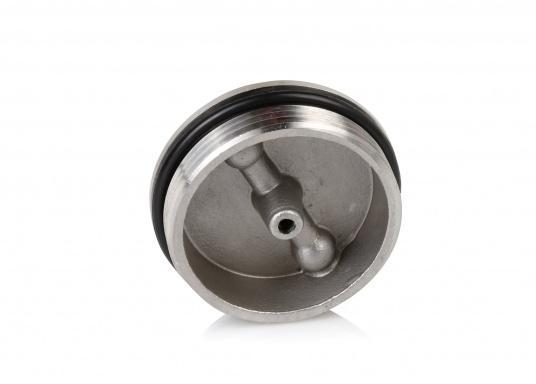 Originale Ersatzdeckel aus Edelstahl für die Tankeinfüllstutzen mit einem 38oder 50 mm Durchlass. Geeignet für die Tankeinfüllstutzen: Diesel, Wasser und Fäkalien.  (Bild 5 von 6)